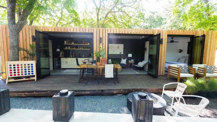 Woodsy Shipping Container Tiny House