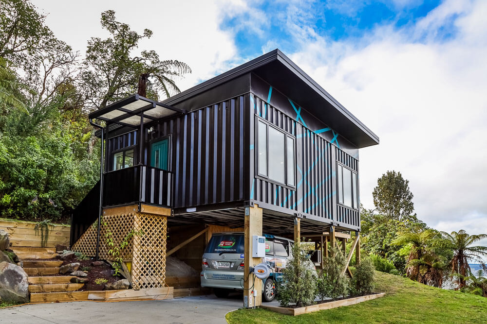 Modern Tiny House Made of Shipping Containers