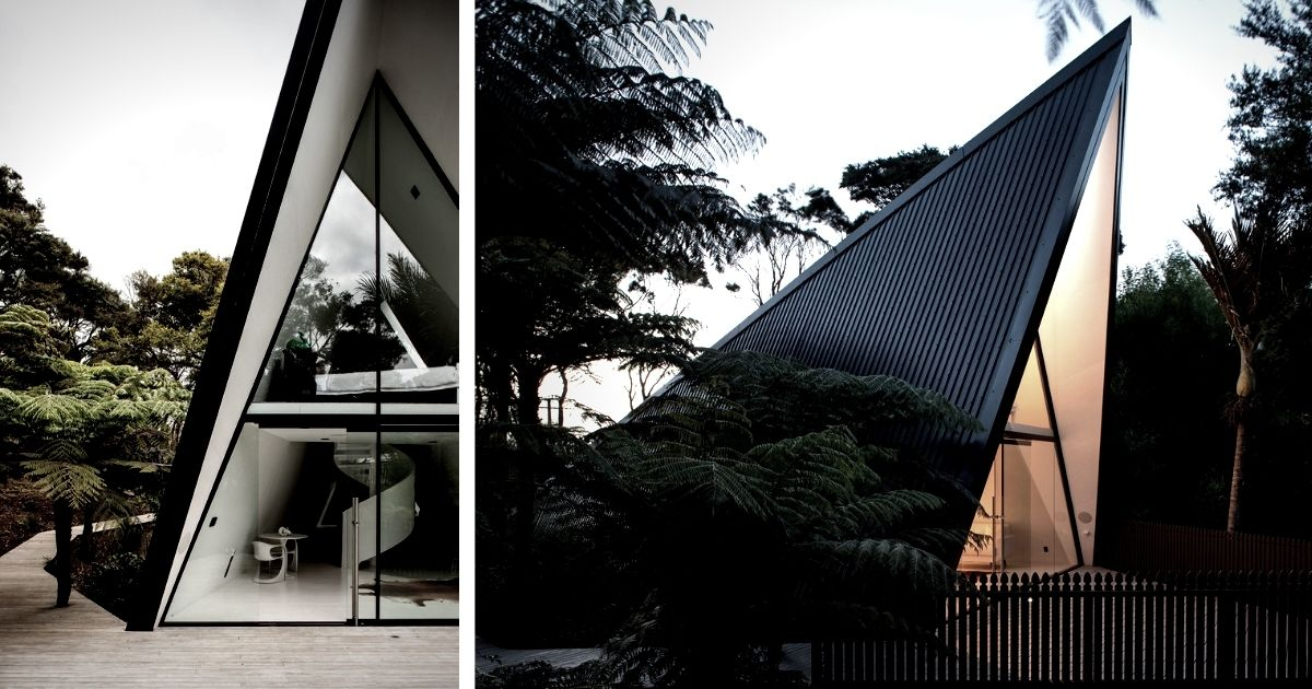 A-Frame Tent House İn New Zealand