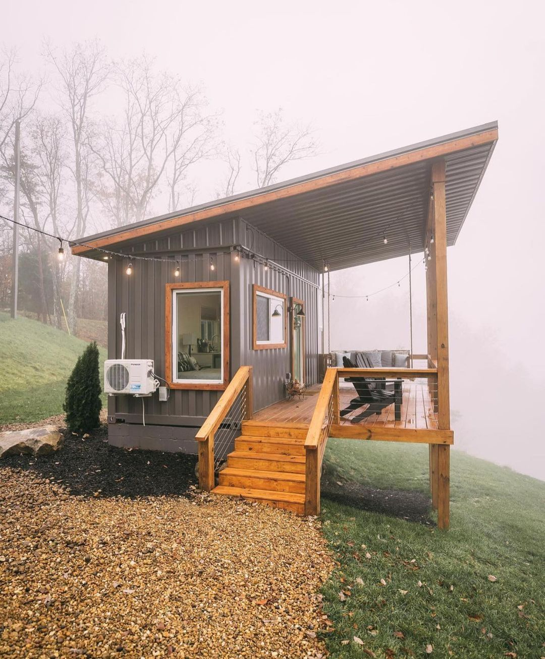 Tiny Shipping Container House On The Cliffs