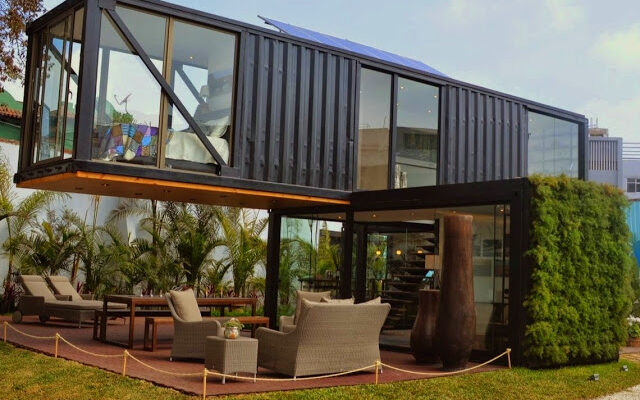 Modern Two-Storey Shipping Container House in Peru