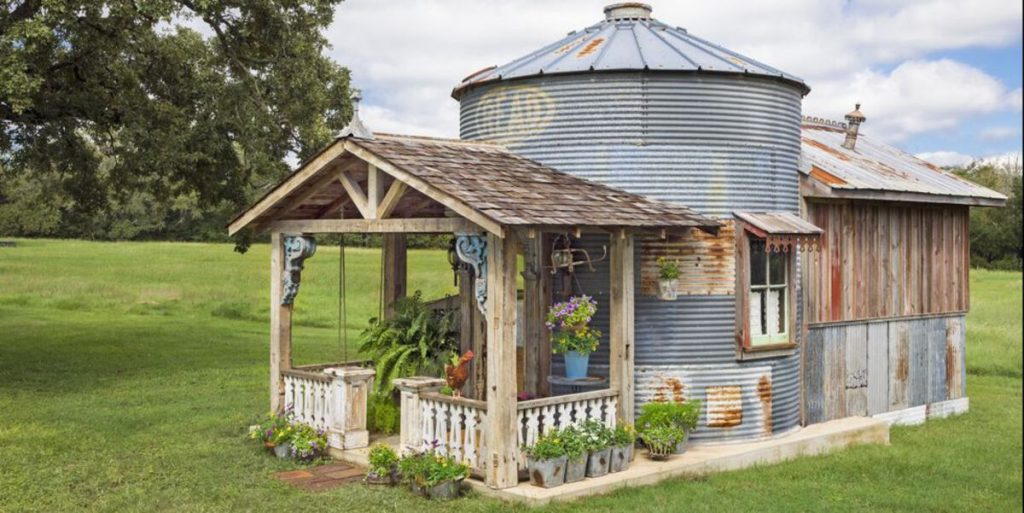 Rustic-Looking Tiny House Made Using Grain Silo