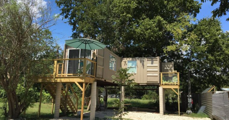 Raised Interesting Design Shipping Container House
