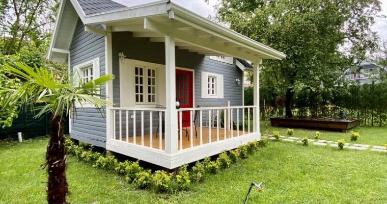 Cute Tiny House with Red Door